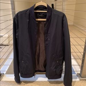 John Varvatos navy bomber jacket